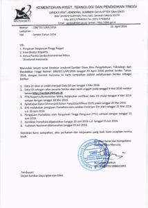 Jadwal Pelaksanaan Sertifikasi Dosen (serdos) 2016